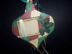 Chipboard Christmas ornament scrapbook album