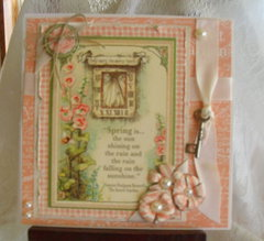 Spring is, springtime card