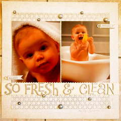 So Clean & Fresh (Ian's 9 mo portrait)