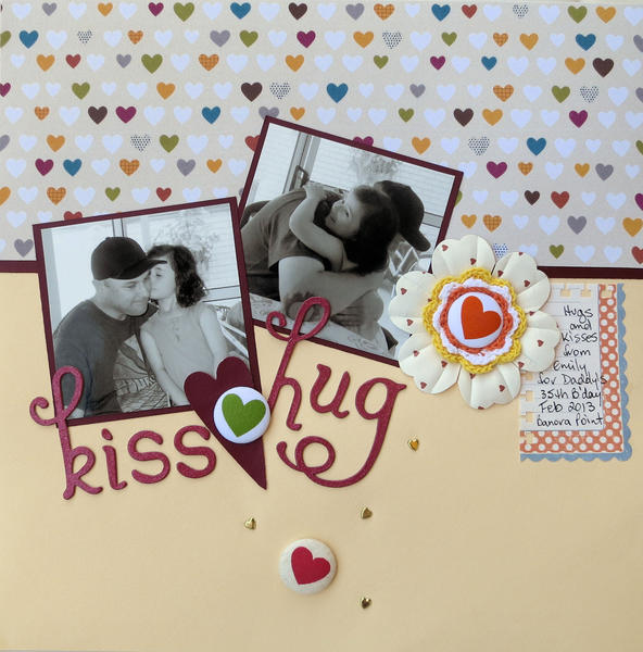 Layout Birthday Hugs Amp Kisses