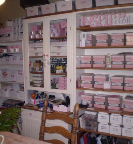 photo shabby chic scrapbook room storage