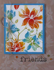 Friends and Flowers Card