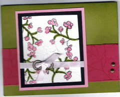 faux silk card