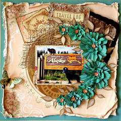 Chena & Escape Kitty-Welcome to Alaska, Swirlydoos odd papers challenge