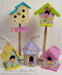 Hello Spring Bird Houses by Tiffany Hood