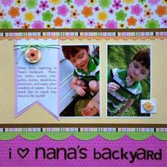Nana's Backyard by Aphra Bolyer featuring Doodlebug Sugar & Spice Collection