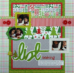 List Making by Jing-Jing Nickel featuring the North Pole Collection from Doodlebug