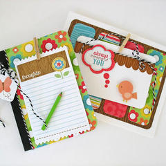Flower Box Card and Composition Notebook Set by Kathy Martin
