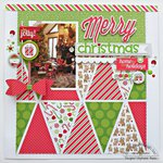 Be Jolly Layout by Stephanie Buice featuring the Home for the Holidays Collection from Doodlebug
