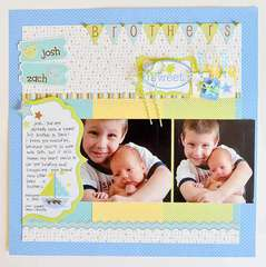 Brothers by Wendy Sue Anderson featuring Snips and Snails from Doodlebug Design