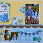 Smile by Aphra Bolyer featuring Snips and Snails from Doodlebug Design