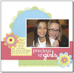 precious girls using Petite Prints from Doodlebug
