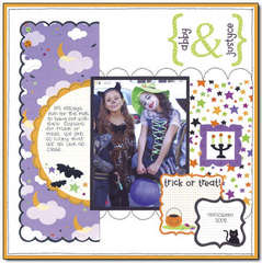 abby & justyce using the new Halloween from Doodlebug