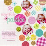 Sweet Baby Paislee featuring the new Kraft in Color Collection from Doodlebug Design