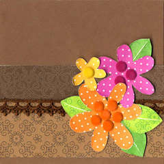 Polkadot Flowers Card