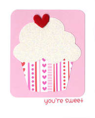 You're Sweet Cupcake Card