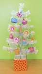Doodlebug Plain and Simple Tree Decorated for Birthday