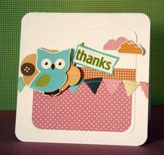 Thanks Card **American Crafts**