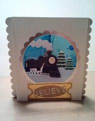 Believe 3D Christmas card