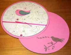 Round little birdie card