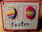 March Cricut Challenge - Easter card w/twist (egg)