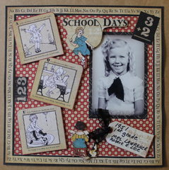 February Heritage Layout - School Days