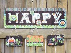 Altered Happy Plaque *Adornit*