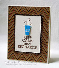 keep calm and recharge