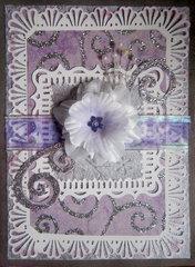 3D Card - Purple/White