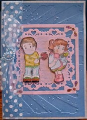 Embossed Anniversary Card