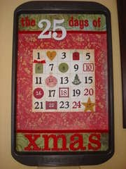 Cookie Sheet Advent Calendar