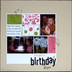 Happy Birthday Rayne