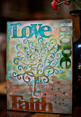 Love Hope Faith **Clear Scraps**
