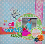 All the Worlds a Stage!! (My Scraps and More Sketch Challenge 4/16)
