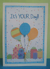 It's Your Day Birthday Card - for Swedish Swap