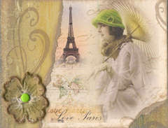 WOW Vintage ATC Swap - Love, Paris, part 1