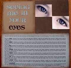 Seeing me in your eyes **