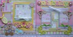 Oh Baby (girl) 12x12 Premade Pages