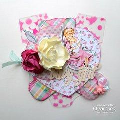 Baby Girl Mini Album - Clearsnap