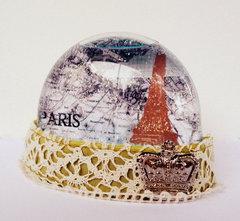 Paris Snow Globe - Paper Wings Productions