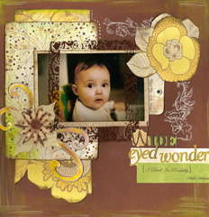 Wide Eyed Wonder - VLB Challenge, scraplift someone whose name starts with same letter (thanx Gabriellep!)