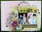 Altered Canvas *Pink Paislee Bayberry*