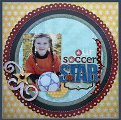 Our Soccer Star *Pink Paislee Starlight*