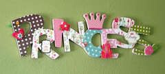Princess Altered Wooden Sign