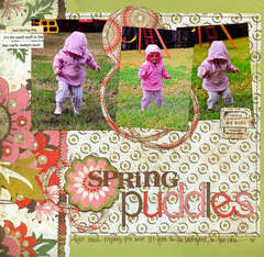 spring puddles {BG Newsletter sketch}