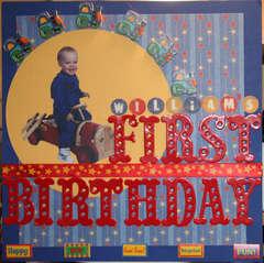 William's First Birthday