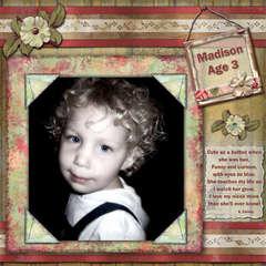 Madison Age 3