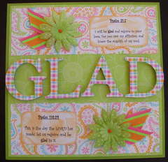 Scripture Challenge Week 7: Glad 1