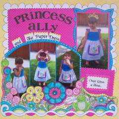 Princess Ally and The Paper Dress