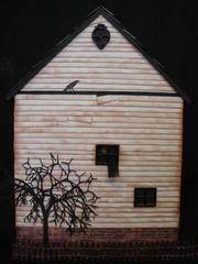 Haunted House Shadow Box